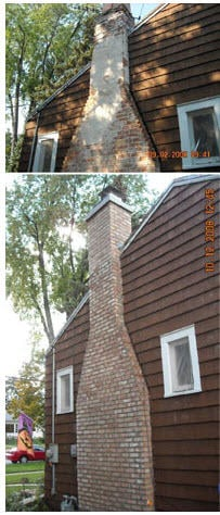 chimney repairs - brick chimney repair tuckpointing
