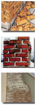 waterproofing chimney saver - freeze thaw damage