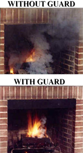 Fireplace Smoke Guards Prevent Smoke Back Up Superior